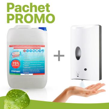 Pachet PROMO Dispenser automat + Solutie igienizanta