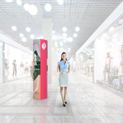 Stand prezentare Mall 02 - Design Floral
