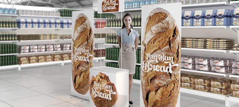 Idei amenajări spatii publicitare in hypermarketuri